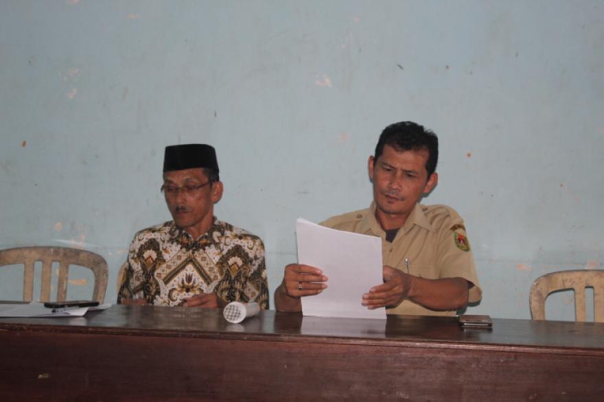 Image : Rapat Pembentukan Panitia PILKADES